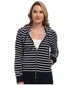 Calvin Klein Calvin Klein  Mini Spaced Hoodie (Navy Stripe) Womens Sweatshirt for 24.99 at Im in!