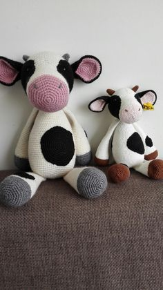 Koe verschillend garen (patroon Krissie dolls)