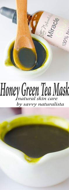 Simple four ingredient honey green tea mask will help prevent wrinkles, while soothing acne scars and providing moisture to the skin thanks to the miracle glow oil.