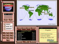 Where in the World is Carmen Sandiego? (Deluxe Edition) DOS World Map