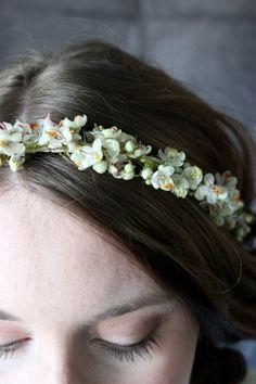 hårkrans midsommarkrans bridal flower crown floral wreath