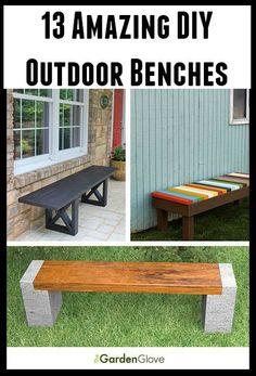 13 Amazing DIY Outdoor Benches