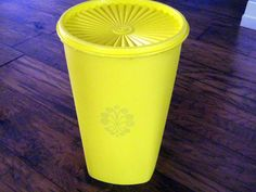 Tupperware Retro golden yellow Storage,Retro Stacking Vintage Tupperware Canister with Lid at Designs By Willowcreek on Etsy by DesignsByWillowcreek on Etsy Tupperware Canisters, Vintage Tupperware, Yellow Storage, Kitchen Storage Containers, Container Store, Golden Yellow, Vintage Kitchen, Etsy Shop, Retro