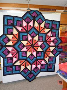 Pattern is by Derek Lockwood called Starburst. I made this quilt ... : lockwood quilts - Adamdwight.com