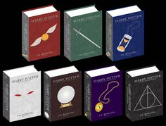 If I could get my Harry Potter books with these covers in leather or imitation leather I would be so happy!