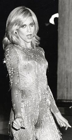 Olivia Newton John during Taping of 'Hollywood Nights' with Olivia NewtonJohn and Andy Gibb at ABC Entertainment Center in Los Angeles California. Olivia Newton John Young, Olivia Newton Jones, Olivia Newton John Grease, Hollywood Night, Old Hollywood, Janis Joplin, Divas, Andy Gibb, Marilyn Monroe Photos