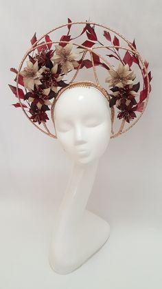 Millinery By Mel Flower Headdress, Floral Headpiece, Head Accessories, Fashion Accessories, Headgear, Vampires, Costume Design, Wearable Art, Fancy Dress