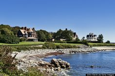 Considered one of the top attractions in Newport, Rhode Island, the Cliff Walk is paved walkway that offers beautiful vistas, tunnels, and long winding pathways. It has been designated a National Recreation Trail. (John Greim/LightRocket via Getty Images) Oh The Places You'll Go, Places To Visit, Places Worth Visiting, Newport Rhode Island, Tourist Trap, Travel Memories, Natural Wonders, Travel Usa, Beautiful Places