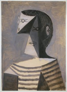 PicassoBust of a Man in a Striped Shirt (1939)gouache on paper 63.1 x 45.6 cm Peggy Guggenheim Collection, Venice