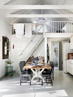 10 Dreamy Scandinavian Summer Cottages Architecture Agency, Cottage Kitchen Renovation, Home Interior, Interior Design, Swedish Cottage, Casa Loft, Summer Deco, Cottage In The Woods, Bedroom Loft