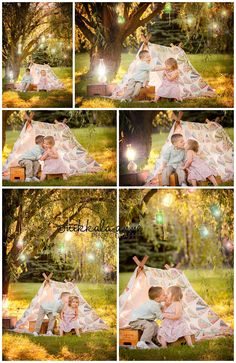 Lanterns of Light | Nikkala Anne Photography family photo session photography inspiration brother sister sibling boy girl tent mason jars willow tree click to see entire blog post