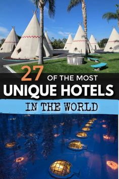 27 Most Unique Hotels in the World – Amazing and Unusual Stays Vacation Places, Vacation Destinations, Dream Vacations, Vacation Spots, Places To Travel, Vacation Ideas, Unique Vacations, Greece Vacation, Romantic Vacations