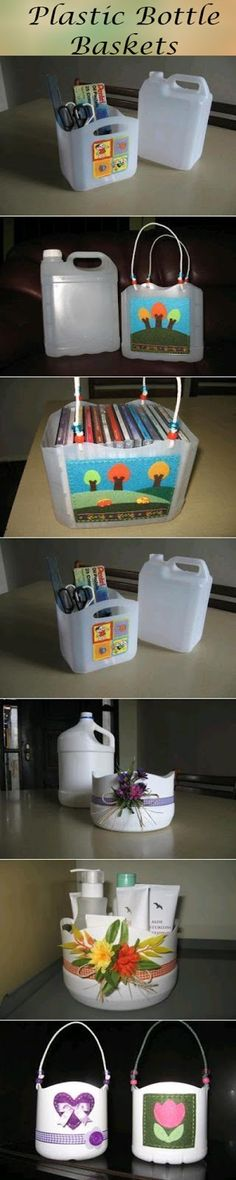 Plastic Bottle Baskets #upcycling