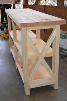 DIY Furniture: X-Console Table