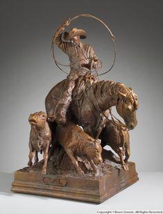 bronze sculpture western art - Google Search