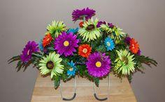 Cemetery Saddle Cemetery Flowers Headstone by McCraeKidstonDesigns