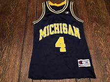 save off 20ed1 00d59 vintage MICHIGAN WOLVERINES  4 Chris Webber mens size 36 S small Champion  jersey Chris Webber