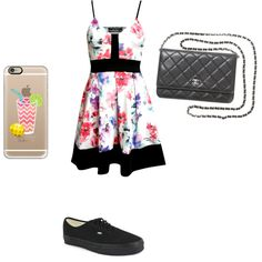 Casual First Date by penguinslov on Polyvore featuring polyvore fashion style Vans Chanel Casetify