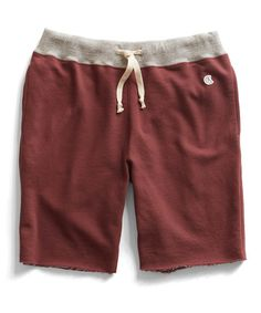 Cut Off Gym Shorts in Crimson