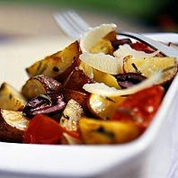 Rosemary Roasted Potatoes and Tomatoes
