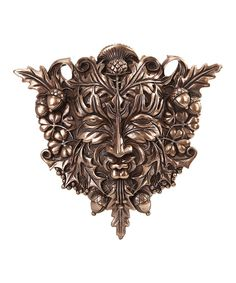Look at this Bronze Green Man Plaque on #zulily today!