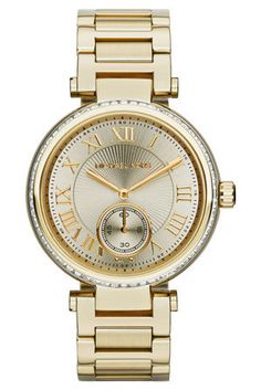 e60a1068ed22 Sport Gold Stainless Steel Ladies Watch - Lyst Michael Kors Tops
