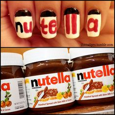 Really? Have we become so fat that now we advertise Nutella on our fingernails? :|