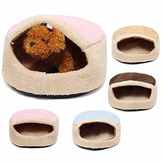 CAMTOA Dog House Pet Cave Round Pet Bed Litter Mat for To...