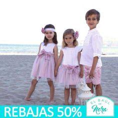 ¿Tienes una #boda o #evento este verano o a principios de otoño? Entra en nuestra tienda Online y encuentra el #conjunto o #vestido perfecto para l@s más pequeñ@s. ¡Y al 50%!