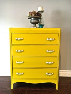 yellow u0026 white highboy dresser 300 sold