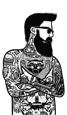 The art of jack boulton flash as art tattoo illustration, il Hipster Illustration, Illustration Design Graphique, Creative Illustration, Graphic Illustration, Hipster Vintage, Vintage Flash, Sketch Manga, Silkscreen, Black White Tattoos