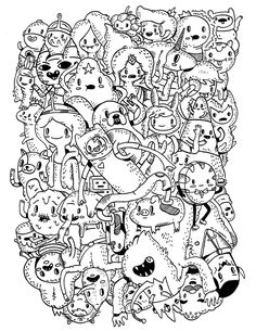 382 Best Doodle Monster Coloring Pages Images Doodles Drawings