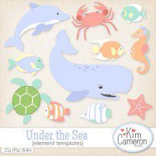 Under the Sea Templates by Kim Cameron cudigitals.com cu commercial template scrap scrapbook digital graphics Cameron #digitalscrapbooking #photoshop #digiscrap #scrapbooking
