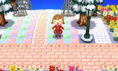 Animal Crossing: New Leaf & HHD QR Code Paths Off White Path Heart border <--
