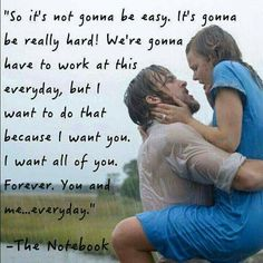 The most timelessly romantic quotes, moments, and life lessons from The Notebook by Nicholas Sparks. Love Quotes For Him Boyfriend, Fake Love Quotes, Heart Touching Love Quotes, Love Quotes For Her, Quote Of The Day, Movie Love Quotes, Love Fight Quotes, Romantic Love Quotes For Him, Love For Him