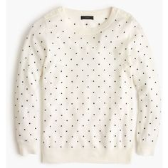32a70ce6a30 J.Crew Polka-Dot Tippi Sweater With Shoulder Buttons ( 155) ❤ liked
