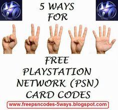 FREE PSN (PLAYSTATION NETWORK) CARD CODES #free #psn #card #code