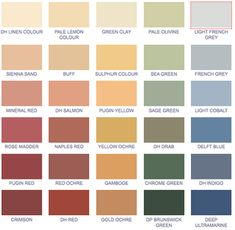 Victorian color palette -- the french blue, buff, cream, and salmon shades could be modernized a bit and be very lovely