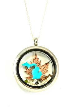absolutely LOVE this!! michigan fall locket by LoveSmittenDesigns on Etsy, $85.00