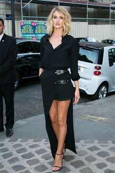 Rose Huntington-Whitley How+to+Wear+Black+Without+Looking+Boring+via+@WhoWhatWear
