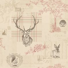 Cranberry Red / Linen - 98010 - Nature - Check - Tartan - Stag - Trees - Calligraphy - K2 - Holden Wallpaper Holden Decor http://www.amazon.co.uk/dp/B00I5IPCH0/ref=cm_sw_r_pi_dp_rNF7ub0F5MSZQ