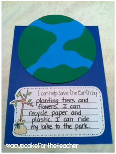 A Cupcake for the Teacher: Heart the Earth {Craftivities}