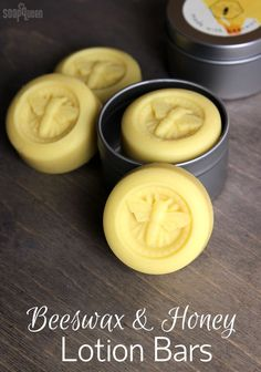 Lotion Bars DIY Beeswax and Honey Lotion Bars DIY // Learn how to make these lotion bars with olive oil, shea butter and beeswax.Beeswax and Honey Lotion Bars DIY // Learn how to make these lotion bars with olive oil, shea butter and beeswax. Lotion Bars Diy, Lotion En Barre, Homemade Soap Recipes, Beeswax Recipes, Castile Soap Recipes, Diy Bar, Homemade Beauty Products, Home Made Soap, Home Made Lotion