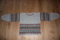 Fair Isle inspired sweater. My own pattern.