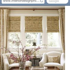 Window casing and bamboo blinds