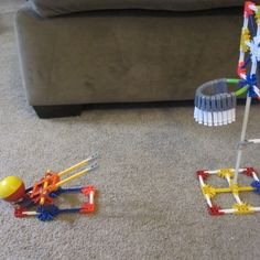 K'nex Basketball Game - Looks a lot like the basketball game The Engineer built from the Big Book of Ideas.