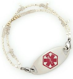 Shop stylish and affordable medical bracelets for women. Lauren's Hope offers a variety of styles to choose from along with custom engraving for your medical ID tag. Med Id, Medical Id Bracelets, Custom Engraving, Personalized Items, Zen, How To Wear, Accessories, Style, Swag