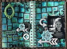 Page art jounal-Inspiration Zip-a-Doodle de BoBunny Scrapbooking, Doodles, Zip, Inspiration, Biblical Inspiration, Scrapbooks, Donut Tower, Doodle, Notebooks