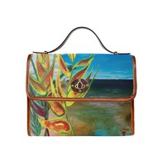 Heliconia Tropical Parrot Plant Take me There Waterproof Canvas Bag/All Over Print (Model 1641)