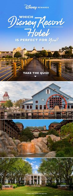 Take our fun quiz to discover which Walt Disney World® Resort Hotel is perfect for your next vacation! Disney Resort Hotels, Disney World Hotels, Disneyland Resort, Walt Disney World, Park Resorts, Vacation Resorts, Hotels And Resorts, Disney Rewards, Disney Visa